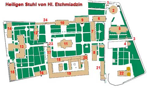 Lageplan Etchmiadzin Monastery map