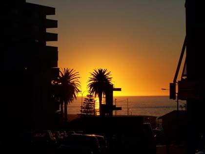Sonnenuntergang in Kapstadt (Südafrika)