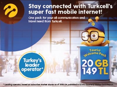 Turkcell's Tourist Welcome Pack