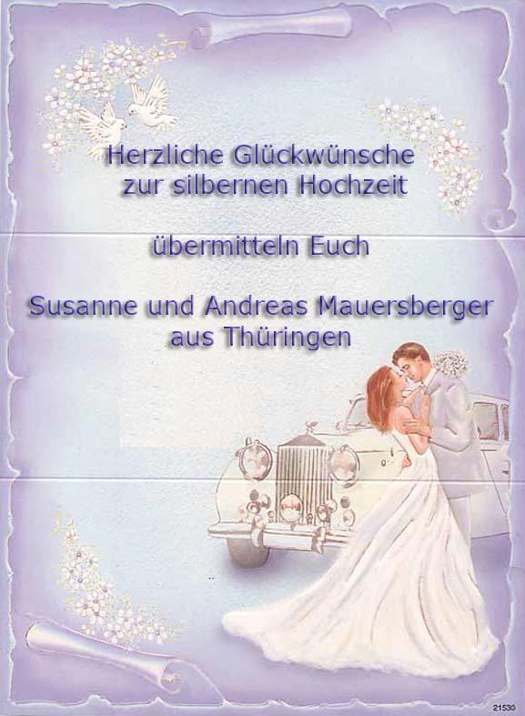 Herzliche Glückwünsche Zur Silbernen Hochzeit